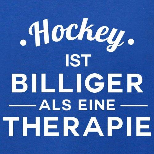 Hockey ist billiger als eine Therapie - Damen T-Shirt - 14 Farben Royalblau