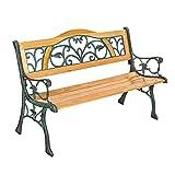TecTake Banc de jardin en bois | diverses modèles ('Kathi' 124 x 60 x 83cm | no....