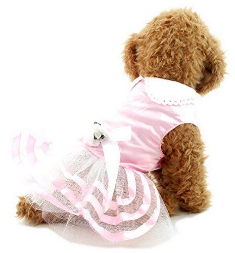 ranphy Kleine Hund Tutu Kleid Rock Katze Prinzessin Marineblau Streifen Kleidung für weiblich, Satin abgestuftes, (Tutu Couture Kostüme)