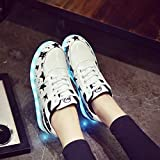 Outgeek 7 Color LED Light up Luminous Shoes Glowing Sneaker for Mens Womens