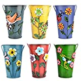 BOROK 6St. Blumentopf Hängend Übertopf Vintage Blumentopf Balkon Deko Pflanztopf Garten Tischmülleimer