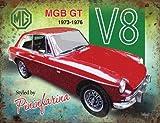 15x 20cm MGB GT V8Classic Sports Car Metall Werbung Wandschild