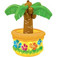 Unique Party 90694 90694-Palm Tree Inflatable Drinks Cooler, Multi, 26''
