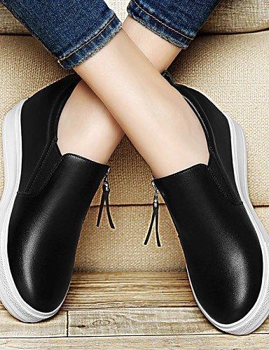 Calzado Mujer Shangyi - Mocasines - Oficina Y Trabajo / Formal / Casual - Plataformas / Creepers - Plataformas - Sintético - Negro / Blanco Negro