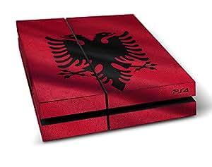 """Sony PlayStation 4 Designfolie """"Albanien Flagge"""" Skin Aufkleber für PlayStation 4 (PS4)"""