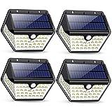 Luce Solare Led Esterno,【2019 Ultimi Modelli 60LED-800 lumen】iPosible Lampada Solare Esterno con Sensore di Movimento 2000 mAh Luci Esterno Energia Solare Impermeabile per Giardino,Parete- 4 Pezzi