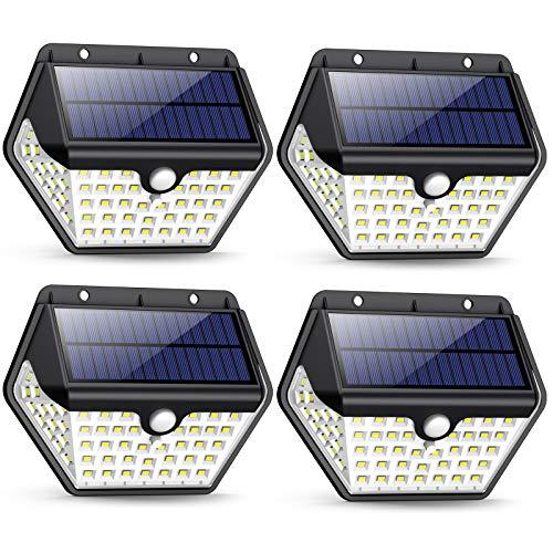 ¿Por qué elegir Luz Solar Exterior de iPosible [2019 Más Nuevo Modelo 60 LED - 800 Lumens]? ✔ 60 LED Luz Solar están con el look más exclusivo en el mercado, lo que proporciona una mejor iluminación y seguridad, previniendo efectivamente las caídas y...