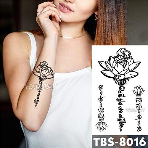 Adgkitb 4 pezzi impermeabile tatuaggio temporaneo aquila loto mandala occhio fiamma totem falso tatto per uomo tbs-8016 12x19 cm