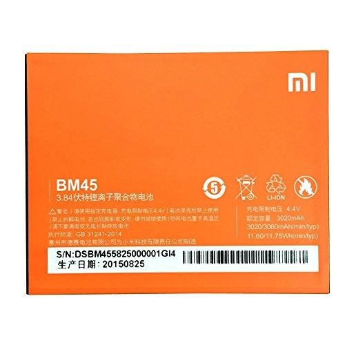 Batterie de remplacement/secours Li-ion 3020mAh pour téléphone portable XiaoMi (Redmi Note 2BM45)