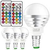 Ampoule LED RGBW avec Télécommande Sans Fil,Changement de Couleur Dimmable LED...