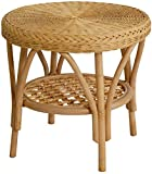 Rattan-Tisch / Beistelltisch Rund in der Farbe Honig - Versandkostenfrei in DE