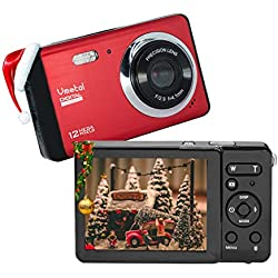 """Appareil Photo numérique 80X2 / Zoom numérique 8X / 12 MP / 720P HD/Écran LCD TFT 2,8"""" / Cadeau de Noël Appareil Photo Simple pour Enfants/Adolescents/débutants/Les Personnes âgées"""