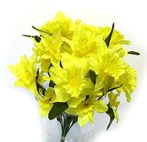 Fleurs artificielles bouquet de narcisses jonquilles hauteur: 43 cm x ø 35 cm
