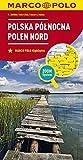 MARCO POLO Karte Polen Nord 1:300 000: Wegenkaart 1:300 000 (MARCO POLO Karten 1:300.000)