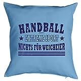 Cooles Kissen Handball - Geschenk Sportler : Handball Extreme Sport .. - Kissen mit Füllung / hellblau