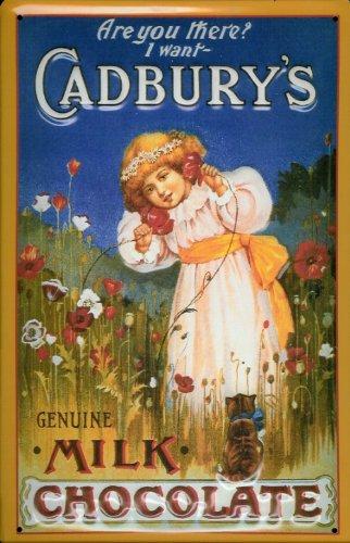 Blechschild Nostalgieschild Cadbury`s Milk Chocolate Kind Schokolade Schild retro Werbeschild