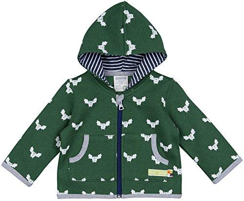 loud + proud Unisex Baby Jacke Woll-Anteil, Druck, Grün (Pine Pin), 80 (Herstellergröße: 74/80) (Portugal Mantel)