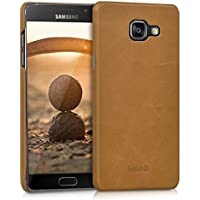 kalibri Backcover custodia in vera pelle per > Samsung Galaxy A5 (versione 2016) < - Leder Case Cover custodia protettiva in castagno
