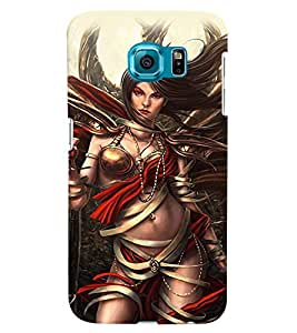 PrintVisa Hot & Sexy Angel Girl 3D Hard Polycarbonate Designer Back Case Cover for Samsung Galaxy S6 Edge+ Plus