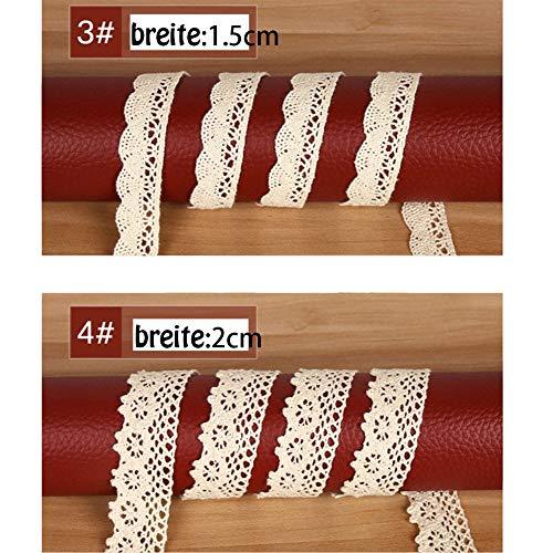 Vintage Spitzenbänder | beige, 5 Stück - 3