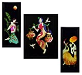 #7: 3 PC SET OF STILL ART PAINTINGS WITHOUT GLASS 5.2 X 12.5, 9.5 X 12.5, 5.2 X 12.5 INCH