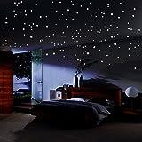 Pegatina Brillante Reutilizable para decoración de Techo de 490 Puntas, Luna de bonos y guía de constelación para habitación de niños o Regalo