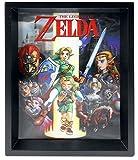 Nintendo Póster The Legend of Zelda Enmarcado en 3D, Multicolor, 10 x 8