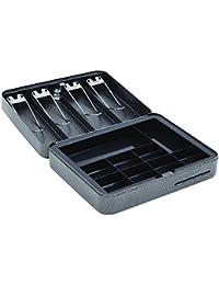 Hercules CB0604 - Caja para llaves, acero reciclado, 15,2 x 11,6 x 7,62 cm, color plateado, 9 Compartment with Bill…