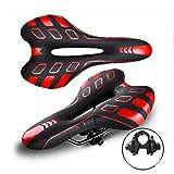 MIAO Sättel/Bike Saddles, Mountain Bike Seat Road Car Comfort Sattel , red