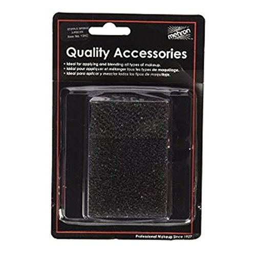 (6 Pack) Mehron Stipple Sponge Applicator (Carded) - Black