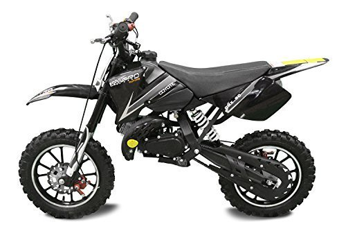 "Coyote 49cc 10"" Neues Design Bike Cross Pocket Mini quad atv (Schwarz)"