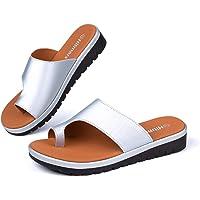 Tong Femme Sandale Orthopedique Mules Compensees Ete Confort Chaussons Chaussure de Plage Noir Or Léopard Taille 35-43