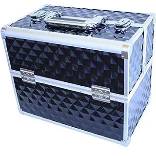 Arebos Beauty Case Vanity Case Make Up Nail Art Case / Box 32 x 21,5 x 26 cm (Black)