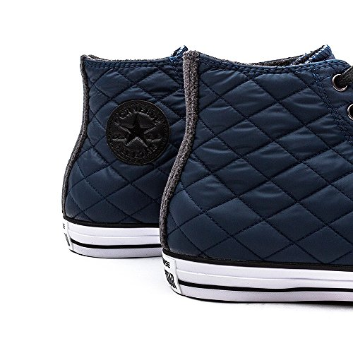 Converse, All Star Hi Textile Quilted Sneaker,Unisex Adulto Blue