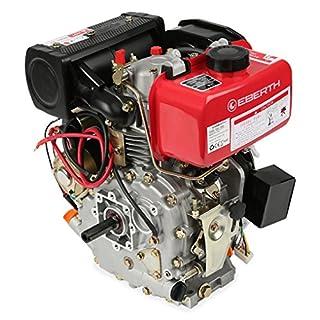 EBERTH 4,2 PS 3,1 kW Dieselmotor (E-Start, 19,05 mm Wellendurchmesser, Ölmangelsicherung, 1 Zylinder, 4-Takt, luftgekühlt, Seilzugstart, Lichtmaschine, Batterie)