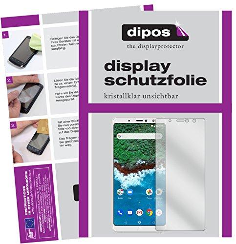 dipos I 2X Schutzfolie klar passend für BQ Aquaris X2 Pro Folie Bildschirmschutzfolie