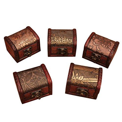 Jaminy Holz Hand gemacht Lock Box Lagerung Organizer Schmuck Armband Pearl Case Geschenk Wood Art Box - Handmade CHINA - Unmatched Quality - Mit Große Schrank Schmuck Lock