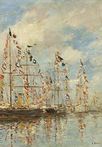 Grafika Kids Puzzle 100 pièces - Eugène Boudin - - - Bassin de Yacht à Trouville, Deauville, 1895/1896 63ee96