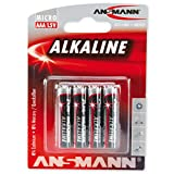 ANSMANN Red Alkaline Batterie Micro AAA LR03 Longlife Alkalibatterie (4er Pack)