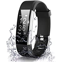 Ainsley ID115 Plus Bluetooth Smart Fitness Band Watch for Men/Women with Heart Rate Activity Tracker Waterproof Body | Steps and Calorie Counter, Blood Pressure, Distance Measure, OLED Touch Screen
