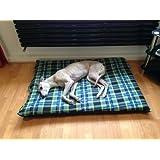 KosiPet® GREEN CHECK Fleece Deluxe MEDIUM Waterproof Dog Bed,Dog Beds,Pet Bed,Dogbed,Dogbeds,Petbed,Petbeds,
