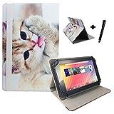 Aldi Medion Lifetab S10346 / S10333 Katze Tablet Hülle Tasche mit Standfunktion - katze Design 10.1 zoll