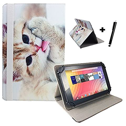 Medion Lifetab P10356 MD 99632 Motiv Tablet Pc Hülle Tasche mit Standfunktion - 10.1 Zoll Katze 2