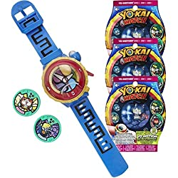 Montre parlante Yo-Kai Watch Modèle Zéro + 3 sachets de 2 médailles Yo-Motion [Yo-Kai Watch]