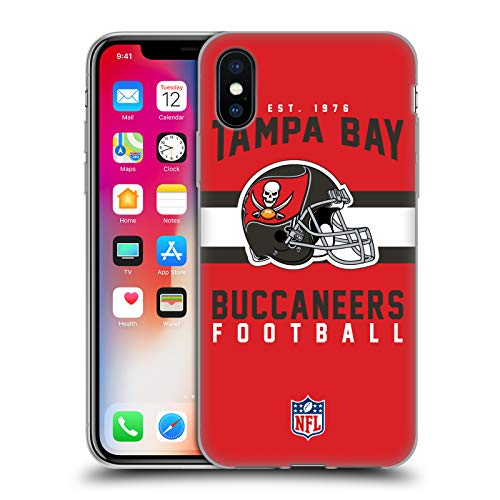 Head Case Designs Offizielle NFL Helm-Buchdruckerkunst 2018/19 Tampa Bay Buccaneers Soft Gel Hülle für iPhone X/iPhone XS 19 X Bay
