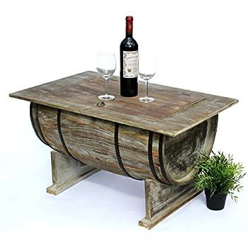 dandibo couchtisch als halbiertes weinfass tisch aus holz beistelltisch 80 cm 5084 weinregal. Black Bedroom Furniture Sets. Home Design Ideas
