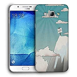 Snoogg Are We There Yet Printed Protective Phone Back Case Cover For Samsung Galaxy A8