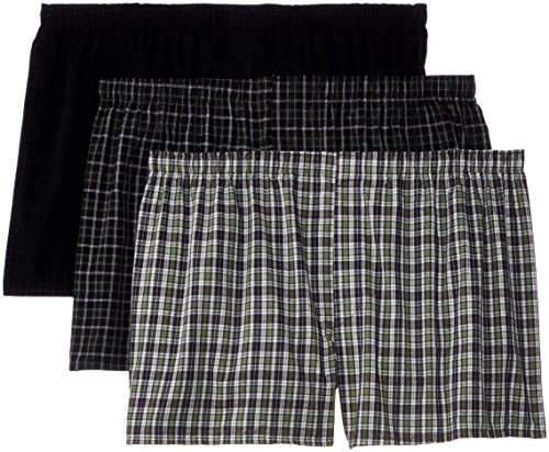 Hanes Men's Big 3-Pack Woven Boxers - Sizes, Assorted, 4X-Large (Woven Hanes Boxer)