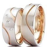 Eheringe 585/- Weißgold Rotgold R-712 - EC84 Gold