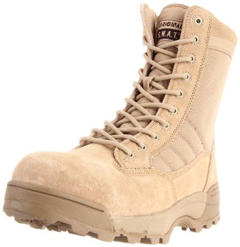 Classic 9 in., Composite Safety Toe, Side Zip, Tan, Size 10 Swat-composite-boot